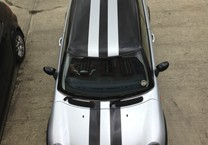 Black & Silver Viper Stripes for Mini