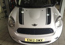 Black Bonnet Stripes for Mini