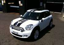 Black Centre Stripes for Mini
