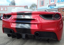 Gloss Black Striping for rear of Ferrari
