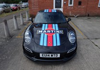 Martini Porsche Bonnet Stripes