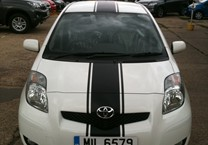 Matte Black Stripe with Pin Striping for Toyota Yaris