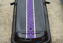 Purple & Chrome Striping to Mini