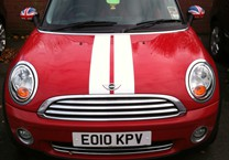 Red & White Viper Stripes for Mini