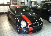 Red Off Set Striping for Mini