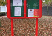 Powder Coated Aluminium Lockable Double Notice Board