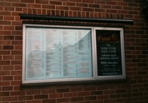 Vinyls in Window to Create Notice Board with Black Trough Light