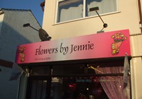 Printed Folded Fascia Sign for Florist