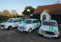 3 Classic Minis in Corporate Livery