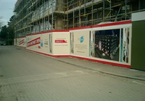 40m Long Printed Hoarding