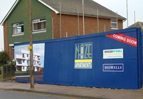 Printed Panels Fitted to Hoarding