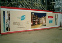 Section of Printed 40m Long Hoarding