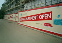 Section of Printed 40m x 2.5m Hoarding