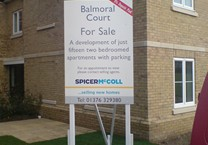 Temporary For Sale Sign on Painted Timber Posts & Braces