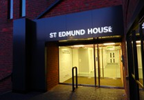 Halo Illuminated Built Up Mirror Finish Letters onto Aluminium Composite Cladding