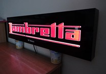 Internally Illuminted Routed Out Sign with Push Through Logo