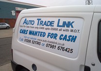 Cut Vinyl Magnetics Cut to Shape to Suit Van Panel
