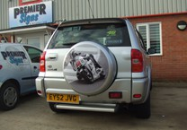 Printed Vinyl for Silver Wheel Cover