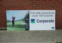 Printed Site Board for Golf Event