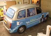 Printed Solid & One way Vision Vinyl Taxi Part Wrap