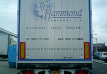 Printed Logo & Cut Vinyls for Rear of Trailer
