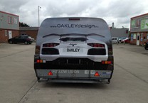 Printed Vinyl for Rear of Car Transporter Trailer