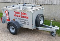 Small Trailer with Cut Vinyls Applied