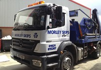 Cut Vinyl Graphics for Skip Lorry
