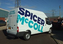 Large Company Logo to Sides of Van