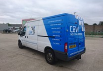 Part Wrap to Rear of Van with Company Logo & Text