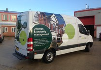 Printed Graphics for Estate Agents Van