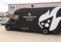 Black Satin Wrap with Gloss White Company Livery to Vauxhall Movano Luton