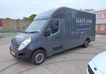 Grey Gloss Wrap with Striping & Company Livery to Renault Master Luton