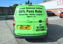 Green Gloss Wrap with Black Company Livery to Ford Courier
