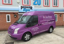 Purple Gloss Wrap with Company Livery to Ford Transit