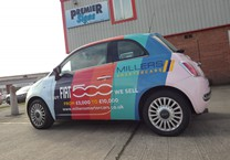 Full Printed Wrap to Fiat 500