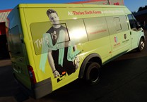 One Way Vision and Printed Wrap Vinyl to Minibus