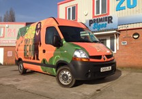 Bear Printed Vinyl Wrap to Van