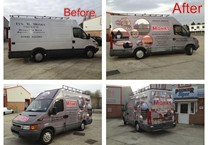 Before & After Photos of Printed Van Wrap