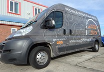 Grey Printed Wrap to Pizza Van