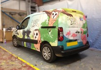 Printed Bird Wrap for Colchester Zoo