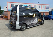 Printed Wrap to Company Van