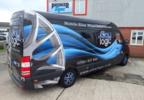 Printed Wrap to White Sprinter Van