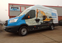Printed Wrap to White Van