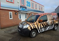 Tiger Stripe Wrap to Berlingo Van